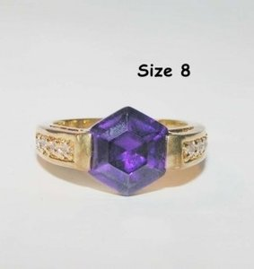Gold Purple Bogo Free Amethyst Fashion Free Shipping Ring
