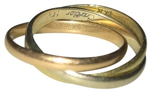 Cartier 18k Tri-Colored Gold Band 'Trinity' Rolling Ring