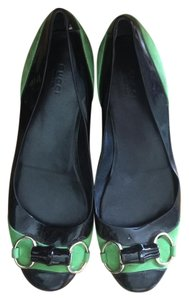 Gucci BLACK AND GREEN Flats