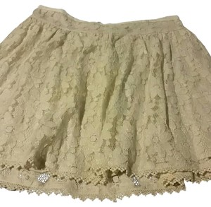 American Eagle Outfitters Mini Skirt Cream