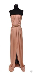 Saint Laurent Silk Strapless Gown Dress