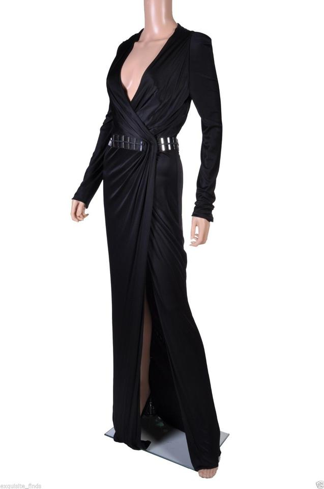 Versace Black New Wrap Gown Long Formal Dress Size 10 (M) - Tradesy