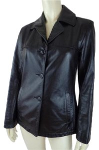 Roots Lined Leather Jacket