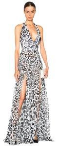 Versace Silk Leopard Gown Dress