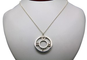 Tiffany & Co. Tiffany & Co. Atlas Sterling Silver Round Pendant Necklace with Chain