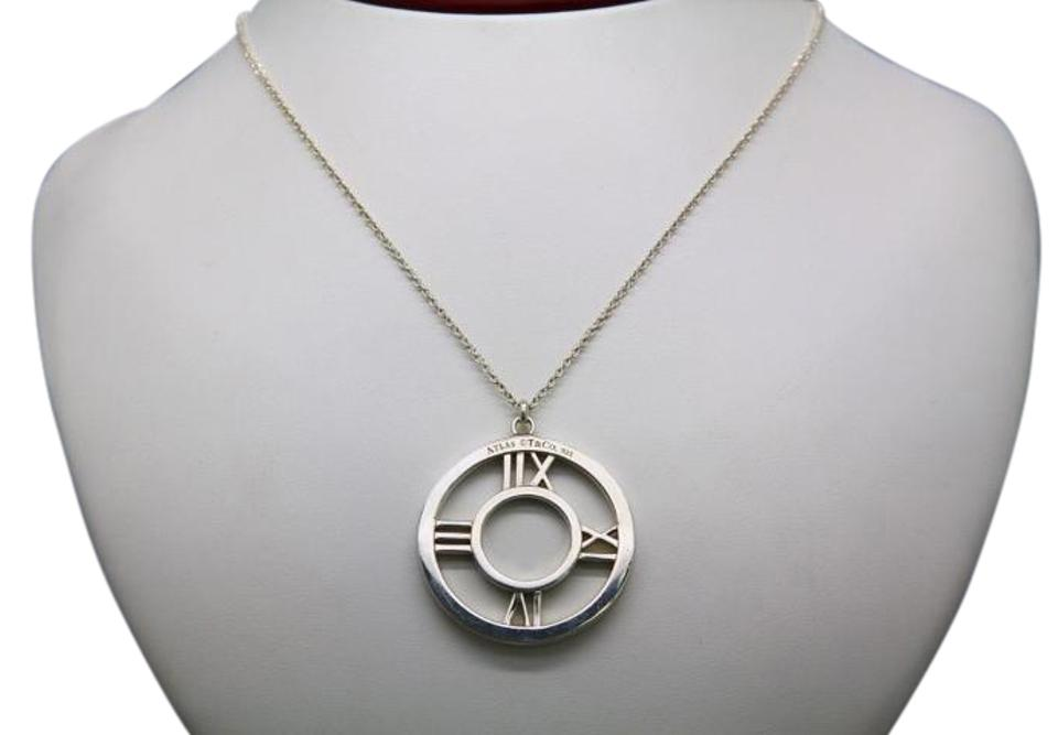 90571f0f7 Tiffany & Co. Tiffany & Co. Atlas Sterling Silver Round Pendant Necklace  with Chain ...