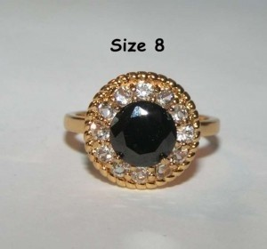 Black & White Zircon Fashion Ring Free Shipping