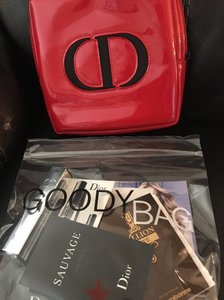 Dior Dior Patent Leather makeup bag/ clutch~With Extras & Samples