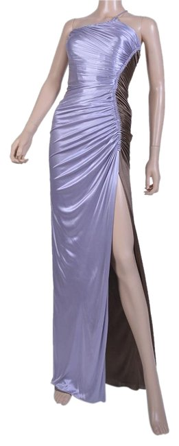 Versace New Ruched Color Block Gown Long Formal Dress Size 4 S