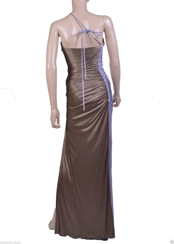 556d15cc558 Versace New Ruched Color Block Gown Long Formal Dress Size 4 (S) - Tradesy