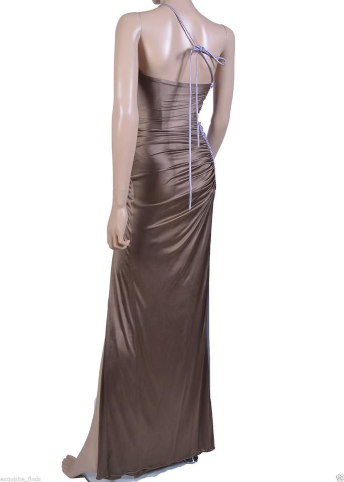 2e00fb57aeb Versace New Ruched Color Block Gown Long Formal Dress Size 4 (S ...