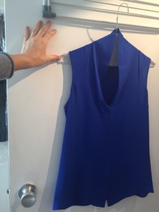 Theory Silk Top Cobalt Blue
