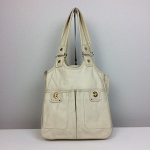 Marc by Marc Jacobs Total Turnlock Teri Leather Tote in Cream