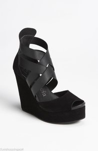Pedro Garcia Leather Black Sandals