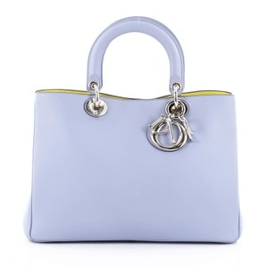 Dior Christian Leather Tote in Blue
