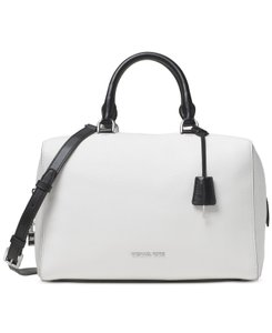 Michael Kors Kirby Satchel in Optic White and Black