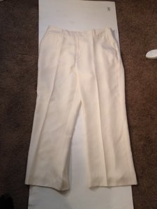 Ralph Lauren Silk White White Trouser Pants Ivory