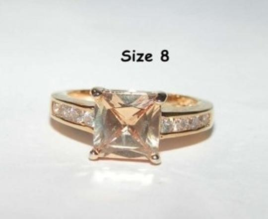 Yellow Gold Elegant Topaz Fashion Free Shipping Ring