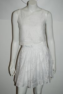 Elizabeth and James ELIZABETH & JAMES 121016 2 PC WHITE PRINTED SKIRT/TANK SET SZ XS/2
