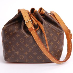 Louis Vuitton Monogram Leather Petit Noe Canvas Tote in Brown