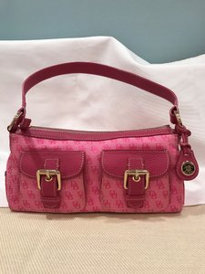 Dooney & Bourke Pink Satchel in Bright Pink/Pink Leather