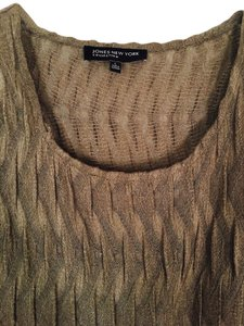 Jones New York Soft Fabric Unusual Design Top LIGHT BROWN