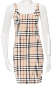 Burberry short dress Beige, Black Nova Check Plaid Monogram on Tradesy
