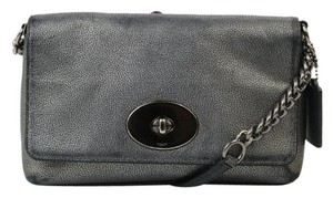 Coach Metallic Silver Hardware Cross Body Bag