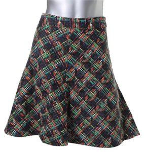Zara A-line Plaid Skirt multi