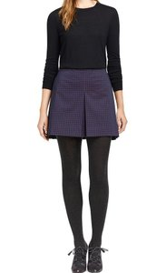Tory Burch Klarissa Dots Mini Mini Skirt Navy
