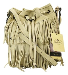 Patricia Nash Designs Suede Fringe Bronze Hardware Shoulder Bag