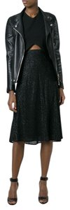 Michael Kors Textured A-line Holiday Skirt Black