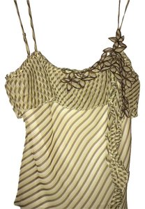BCBGMAXAZRIA Top Brown Yellow White