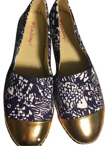 Lilly Pulitzer for Target Blue and white Flats