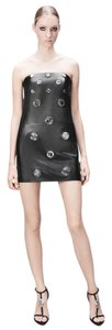 Versus Versace Leather Strapless Dress