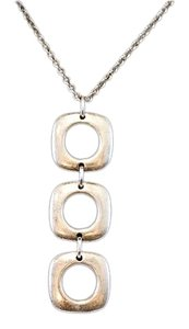 Tiffany & Co. Tiffany & Co. 925 Square Circle Dangle Necklace