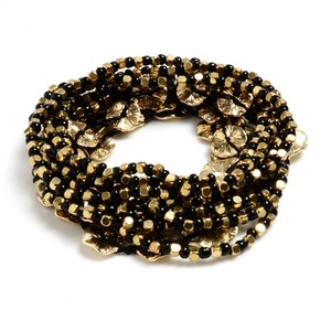 Amrita Singh Amrita Singh New Gold Black Beaded Amelie Bracelet Set Ship Free