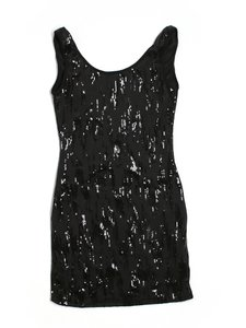 Love Culture short dress Black sequin on Tradesy