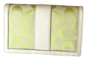 Coach New canvas and leather wallet