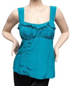 Nanette Lepore Silk Top Teal