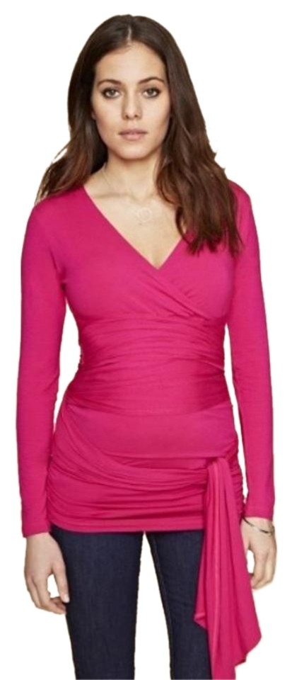 32ed83ca2c9 Isabella Oliver Pink Ruched Wrap Maternity Top Size 4 (S