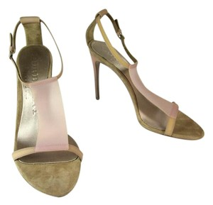 Burberry Beige Leather Heels Sandals