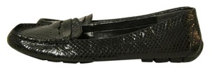 Ralph Lauren Python Loafers Black Flats