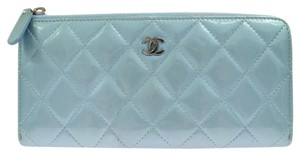Chanel Chanel Zipper Wallet Blue