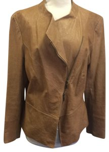 Lafayette 148 New York Tan Leather Jacket
