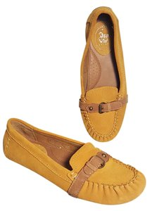Ariat Suede Moccasin Loafer Flax Leather Amber (Gold/yellow) Flats