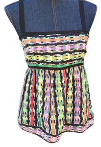 Cynthia Steffe Top Colorful black