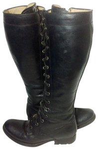Frye 77015 Melissa Melissa Tall Lace Up 6 Women 6 Black Boots