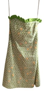 Robin Jordan Strapless Polka Dot Dress