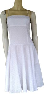 American Living short dress White Eyelet Cotton on Tradesy